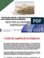 Costo de Capital y Metodos de Evaluación de Alternativas de Inversión