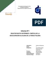 Decoloración alcalina de la fenolftaleína