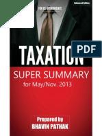 Taxation Super Summary