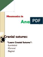 Anatomy Head and Neck Mnemonics