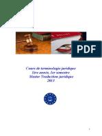 Cours Terminologie Juridique M1 TJ