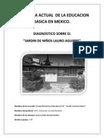 Diagnostico Sobre El Jardin de Niños Lauro Aguirre