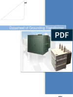 Datasheet of Grounding Transformer