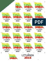 Bandeiras 5x5 - Lituânia 2015