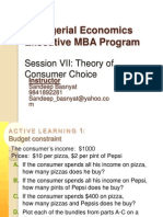 EMBA Sem I Managerial Economics Session7-Theory of Consumer Choice (1)