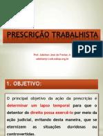 Prescrição Trabalhista 2014 - DIREITO