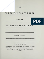 1792 a Vindication of the Rights of Brutes