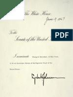 Thurgood Marshall's Supreme Court Nomination