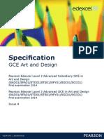 Edexcel GCE Art and Design Specs
