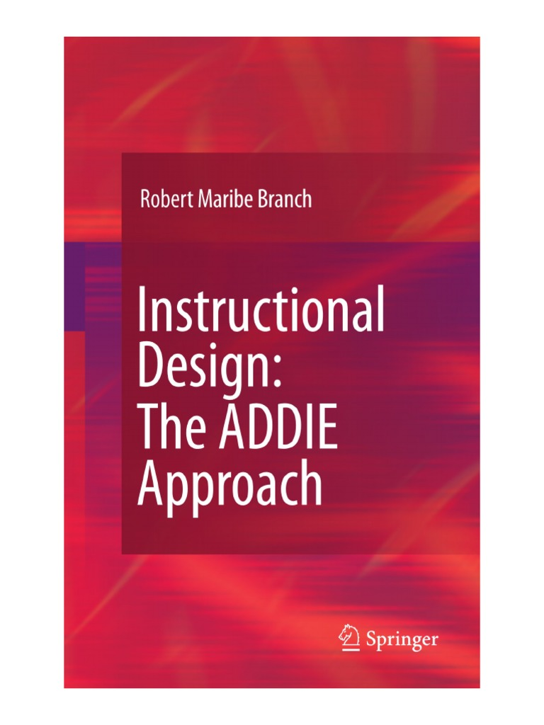 instructional design- the addie approach book   Instructional Design    Learning