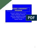 Residency Assessment