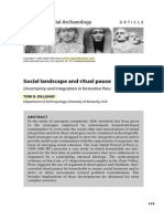 Dillehay 2004 Social Landscape & Ritual Pause Uncertainty