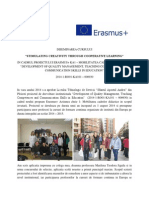 "Diseminarea cursului Erasmus+ KA1 ""Stimulating creativity through cooperative learning"", Madrid, noiembrie 2014"