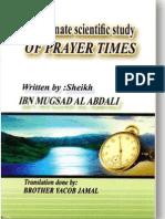 The Correct Prayer Times