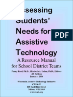 assessing students needs for assistive technology