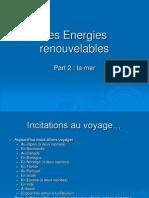 Les Energies Renouvelables de La Mer