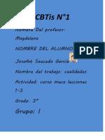 mecanografía lecciones 1-3
