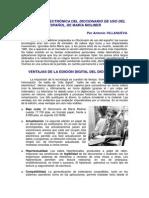El Diccionario de Uso Del Espanol, En Edicion Electronica