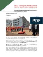 Bachelet Destaca Énfasis de Presupuesto en Salud