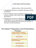 Importance of the Report and Presentation