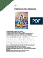 Los 108 Nombres Del Señor Shiva