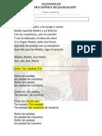Esquema Ntra. Señora de Guadalupe .Voces y Guitarras