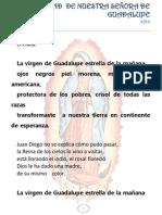 Esquema Solemnidad de Nuestra Señora de Guadalupe 2014. Profe