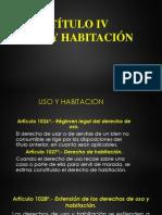 Uso y Habitacion Codigo Civil - Peru
