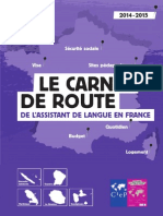 Carnet de Route de l'Assistant de langue en France 2014-2015