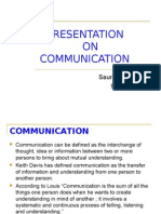 Presentation on Communication