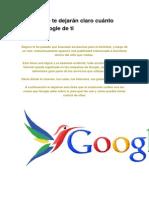 6 Links Que Te Dejarán Claro Cuánto Sabe Google de Ti