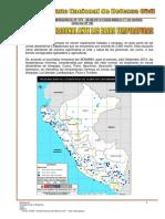 Indeci, Reportes Sobre Bajas Temperaturas a Nivel Nacional