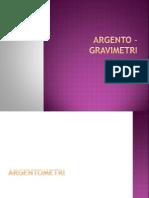 Argento - Gravimetri