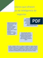 Proveedores Que Ofrecen Productos de Inteligencia de Negocios