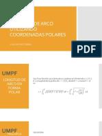 longitud de arco utilizando coordenadas polares