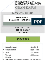 konungtivitis Dr. Abizar, Laporan Kasus