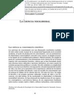 la ciencia neoliberal de Edgardo Lander