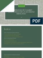 Tendencias de Cambio Económico en La Sociedad.