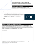 determining core values - wilder worksheets
