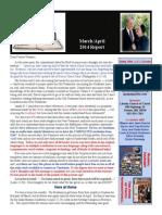 March/April, 2014 Report