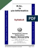 Bioinformatics sem 7 syllabus