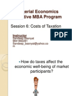 EMBA Sem I Managerial Economics Session6-Costs of Taxation