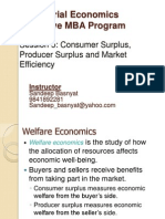 EMBA Sem I Managerial Economics Session5-Consumer Surplus, Producer Surplus and Market Efficiency.ppt