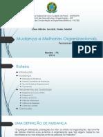Mudanças e Melhorias Organizações