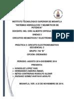 Reporte de Práctica 5 Circuito Electroneumatico secuencial