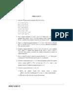 Exercícios Álgebra Linear