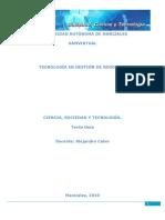 Ciencia Tegnologia y Sociedad