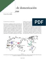 Origenes de la Domesticación de las Plantas