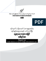 Report on Public Opinion on Yard & Village Administrative Law - Burmese (ACDD)