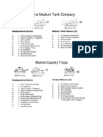 Marine Medium Tank Company Cavalry Tro